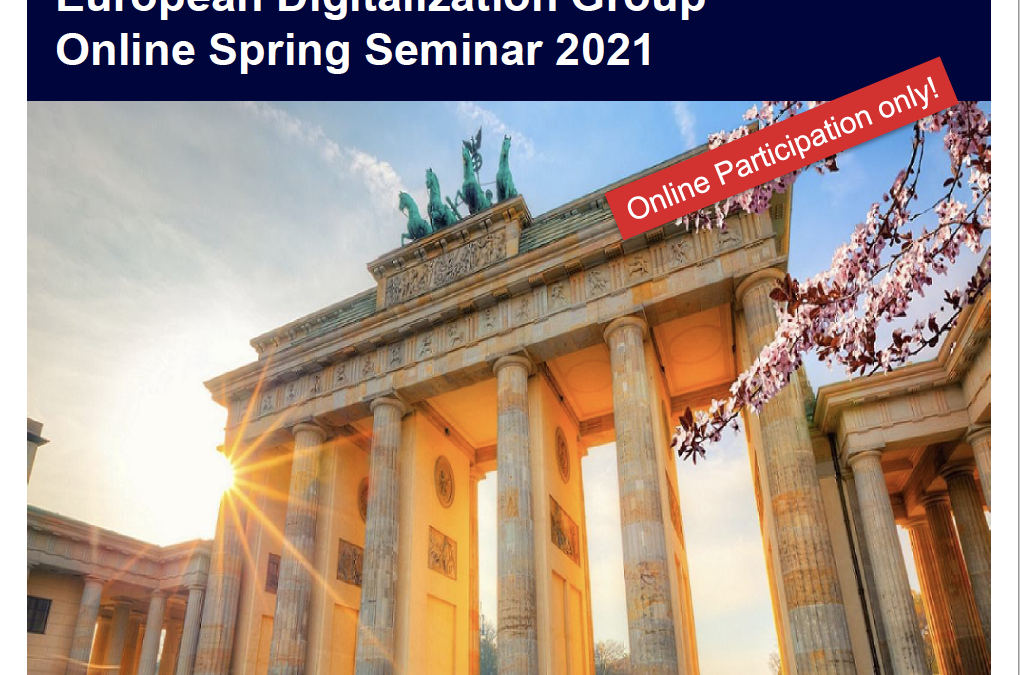 EFL European Digitalisation Group (EDG) Online Spring Seminar 2021