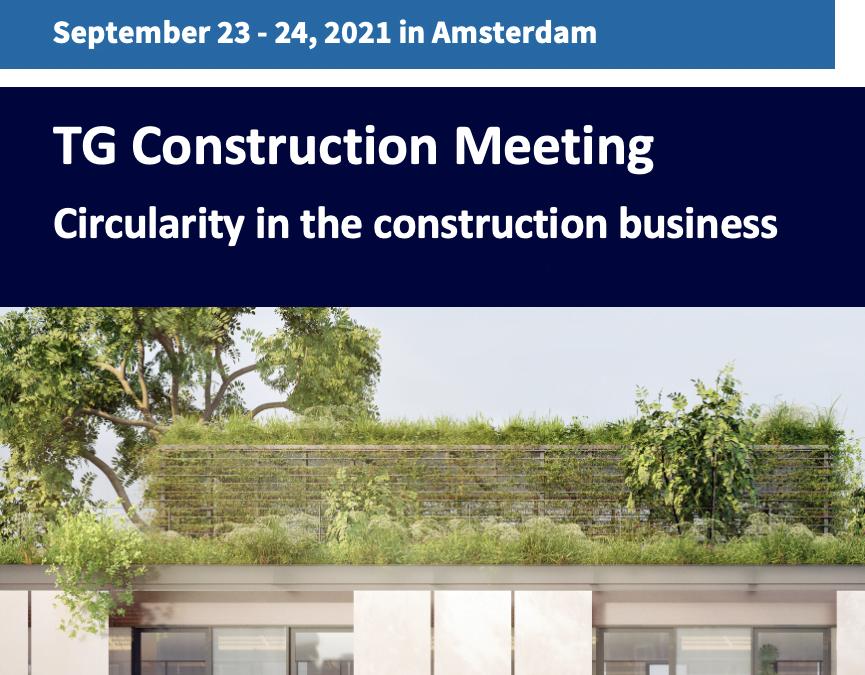 EFL TG Construction Meeting: 23-24 September 2021 in Amsterdam
